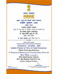 National Award - Sai Extrusion Technik